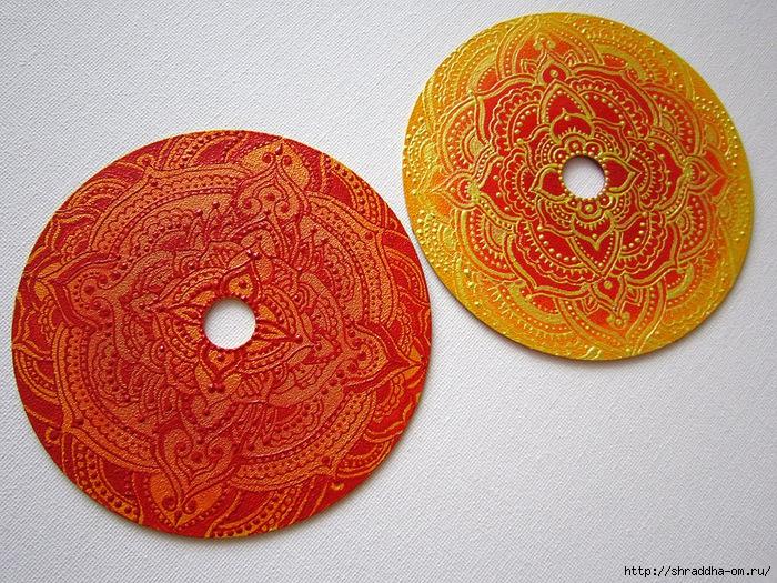 красное и желтое, мандалы на CD, автор Shraddha, 1 (700x525, 446Kb)