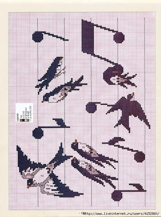 Ласточка схема вышивки 19