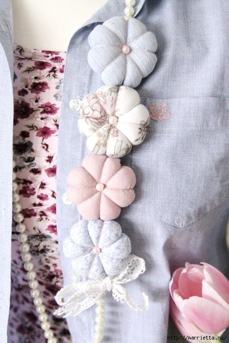 круглые цветы из ткани (2) (467x700, 232Kb)