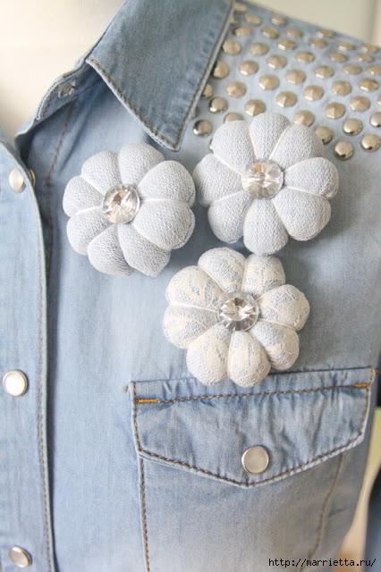 круглые цветы из ткани (48) (426x640, 182Kb)
