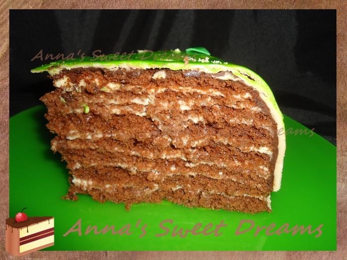 Шоколадный торт с фото многослойный