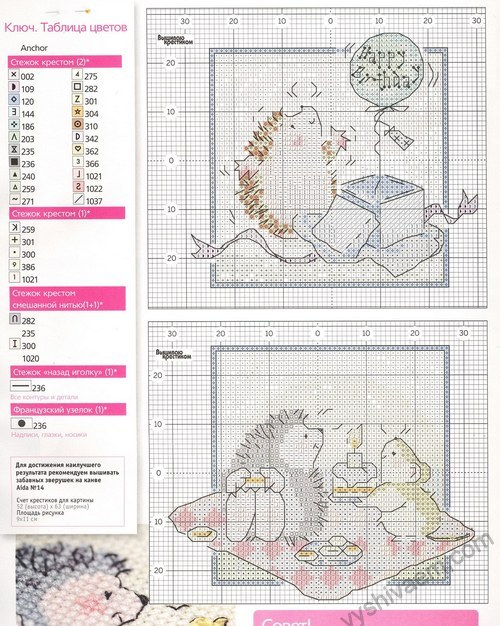 Цветовые схемы ниток для