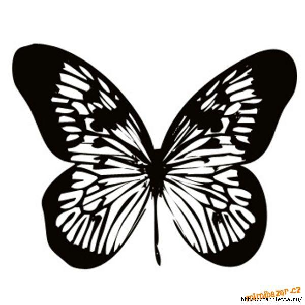 шаблоны бабочек (4) (600x600, 112Kb)