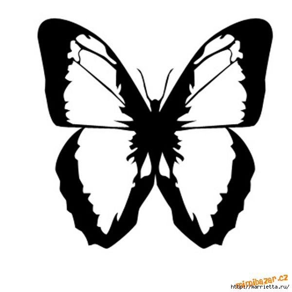 шаблоны бабочек (6) (600x600, 63Kb)