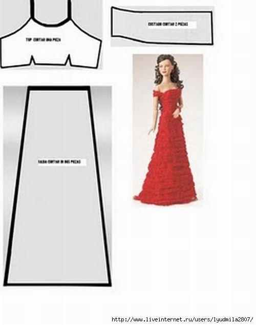 Сшить платье барби с выкройкой