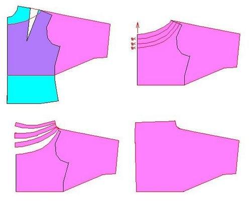 Как сшить блузку водопадом 99