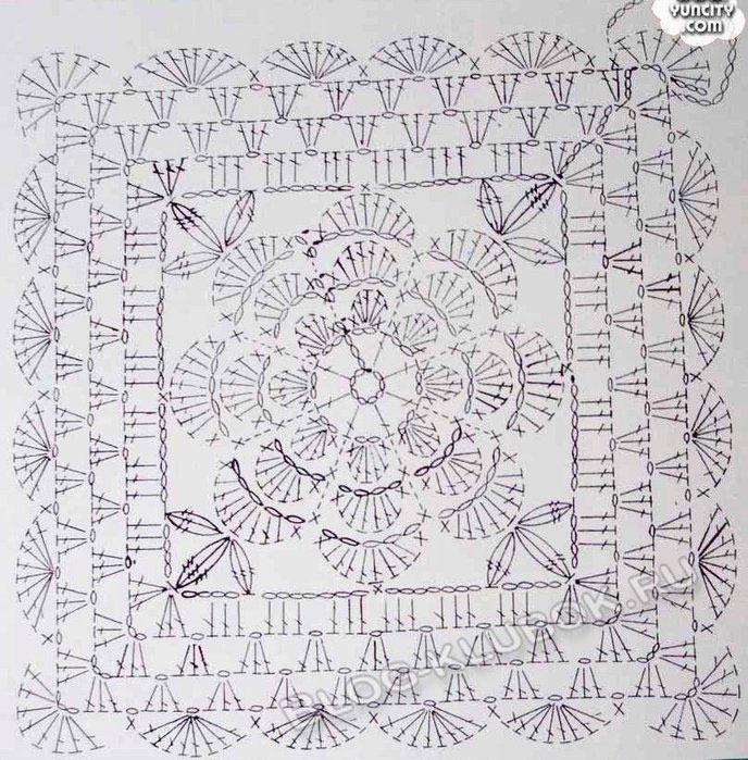 Схема цветочного мотива