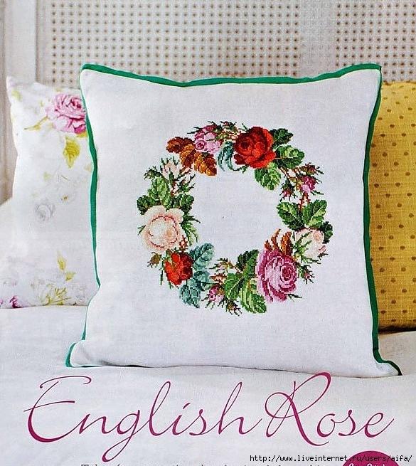 Английские розы (венок