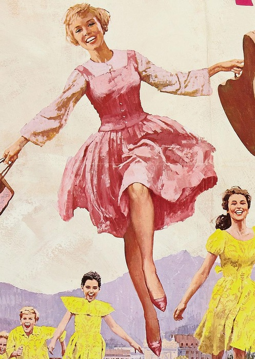 The Sound of Music. Movie poster (detail). Illustrated by Howard Terpning, 1965 (497x700, 129Kb)