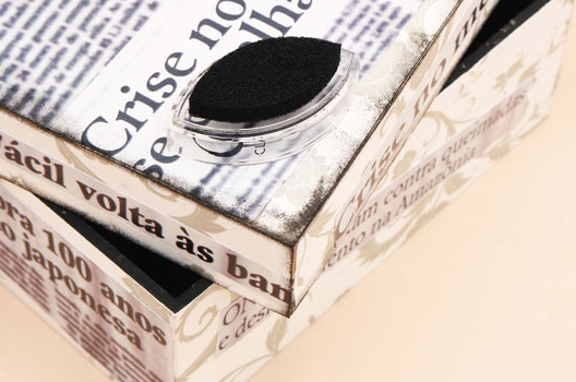 декупаж коробки газетами (4) (528x350, 307Kb)