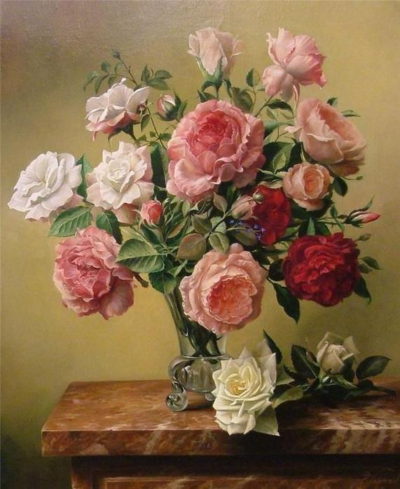 цветочные натюрморты Pieter Wagemans 4 (571x700, 61Kb)