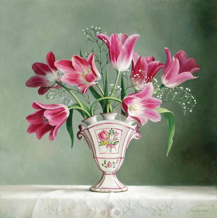 цветочные натюрморты Pieter Wagemans 6 (697x700, 120Kb)