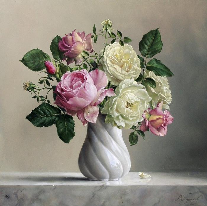 цветочные натюрморты Pieter Wagemans 13 (700x698, 141Kb)