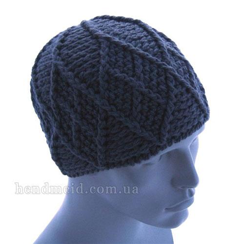 Вязания мужской шапки крючком
