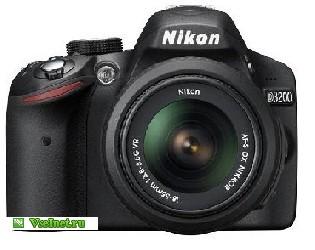 Фотокамера Nikon D3200, 24.2Mpix, чёрная, Kit 18-55VR (315x250, 22Kb)