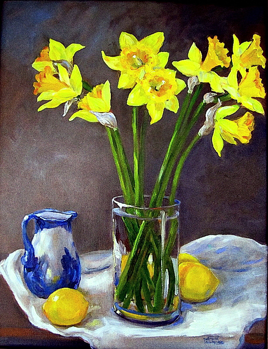 Patricia Musgrave (1925-2007). Still Life with Daffodils (537x700, 536Kb)