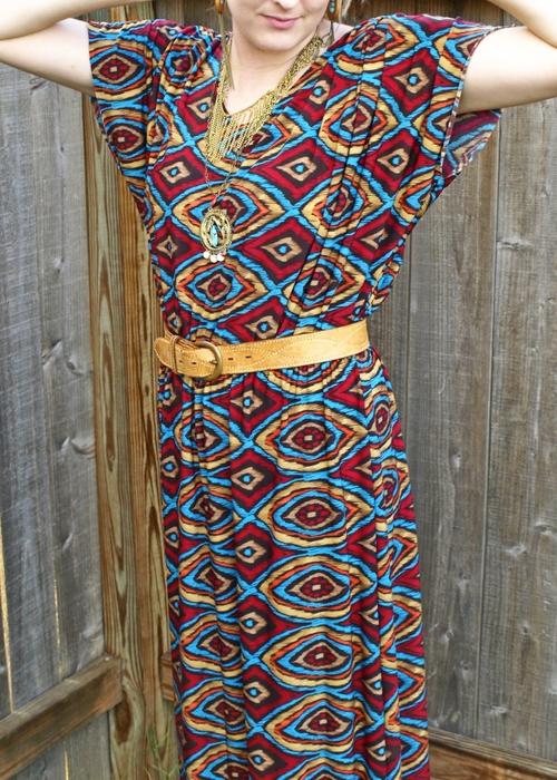 Выкройка платья кимоно для полных 2