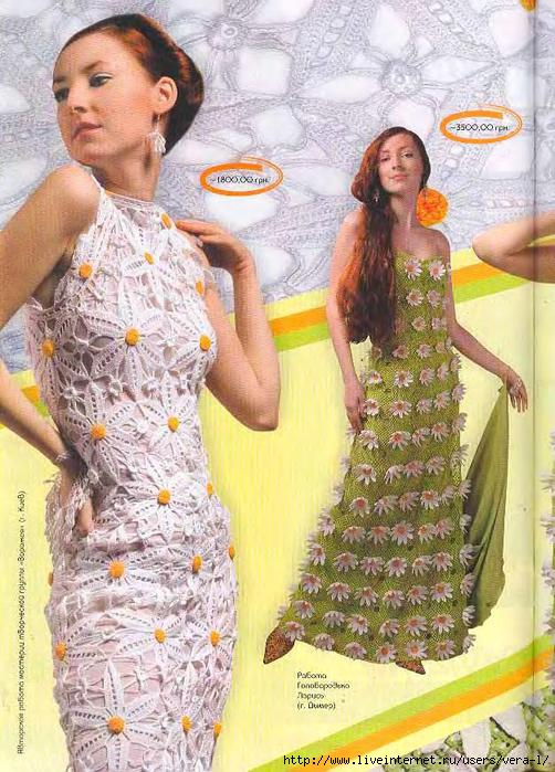 Вязание платья для женщин мк