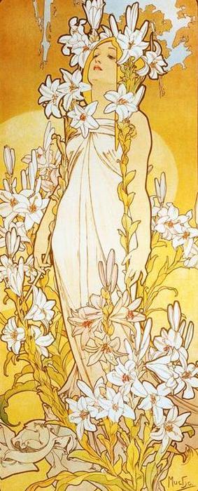 Лилия. Из цикла  Цветы, 1898 (283x700, 60Kb)