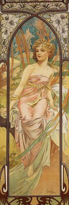Утреннее пробуждение. Из серии Время суток, 1899 (236x700, 46Kb)