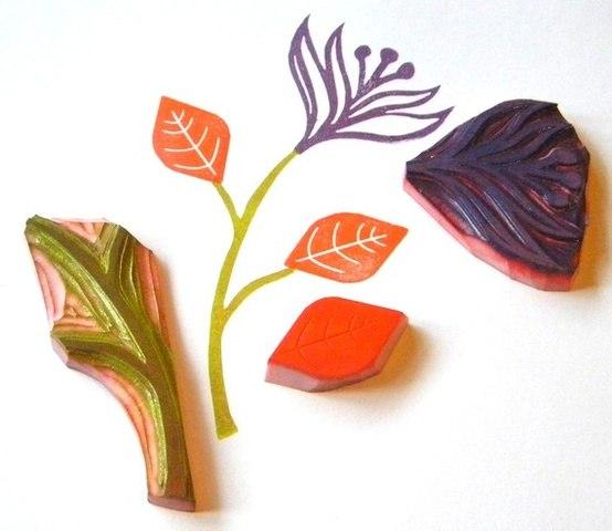 Детские штампы из овощей и фруктов - картошки, перца, яблок, капусты