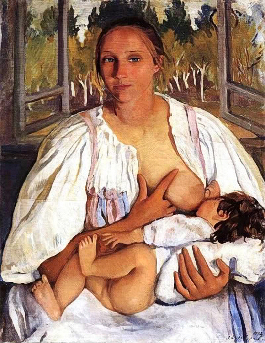 Zinaida_Serebryakova_-_Nurse_with_child_c__1912 (536x694, 357Kb)