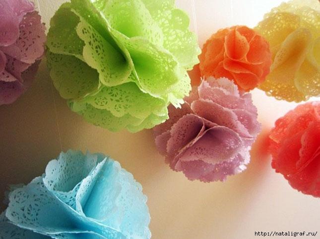 Декоративные шары из бумаги своими руками