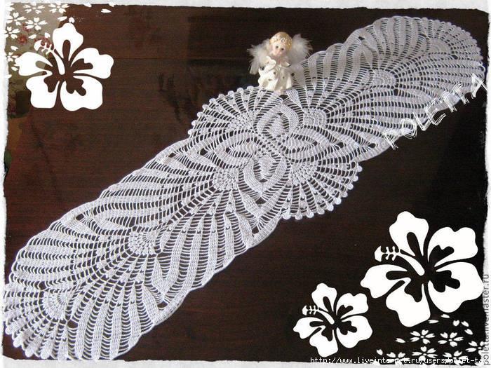 钩针:餐巾式围巾 - maomao - 我随心动