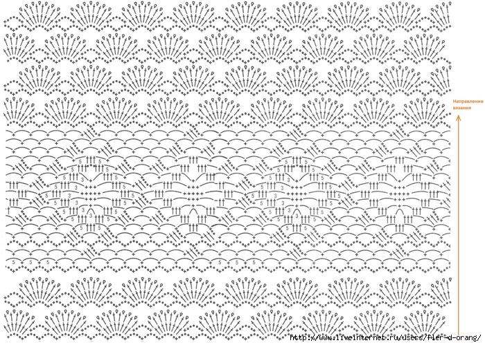 Схема вязания нижней части