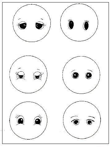 как красиво нарисовать глаза кукле (362x476, 30Kb)