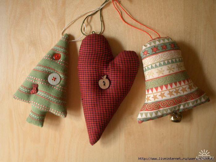 Рождественская мягкая игрушка своими руками - Самодельные