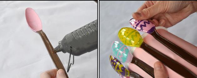 пасхальные яйца из пластиковых ложек (8) (630x252, 291Kb)