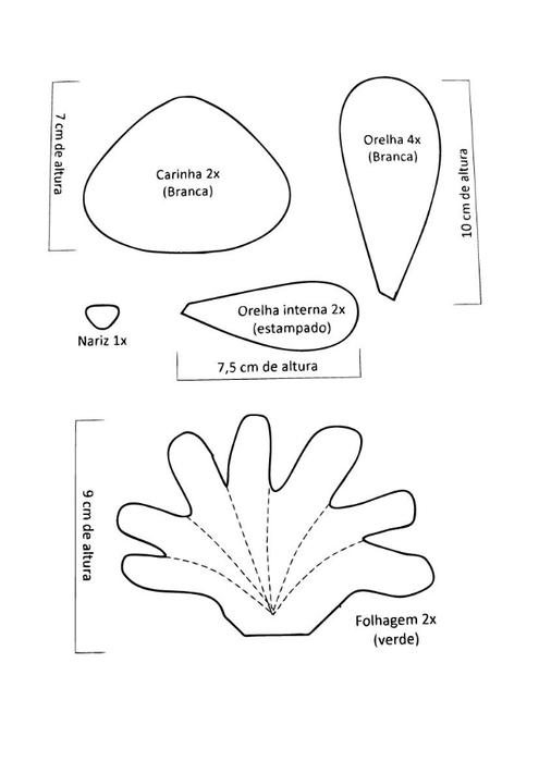 пасхальный зайка с морковкой из фетра (2) (495x700, 64Kb)