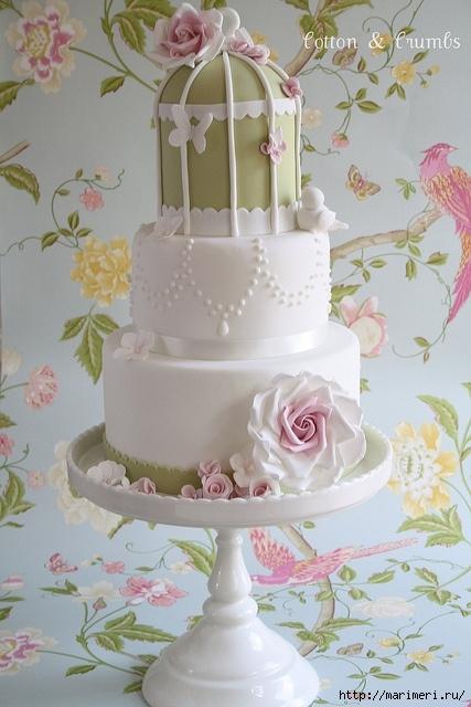 Я не представляю как эту красоту можно разрезать и... Часть 2 - Свадебный торт, как произведение искусства.
