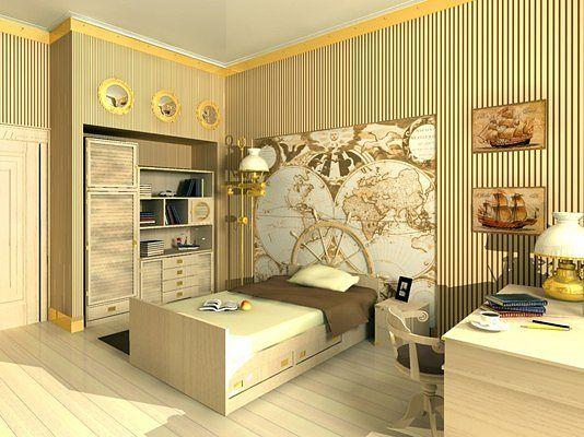 Спальня детской для мальчика дизайн фото
