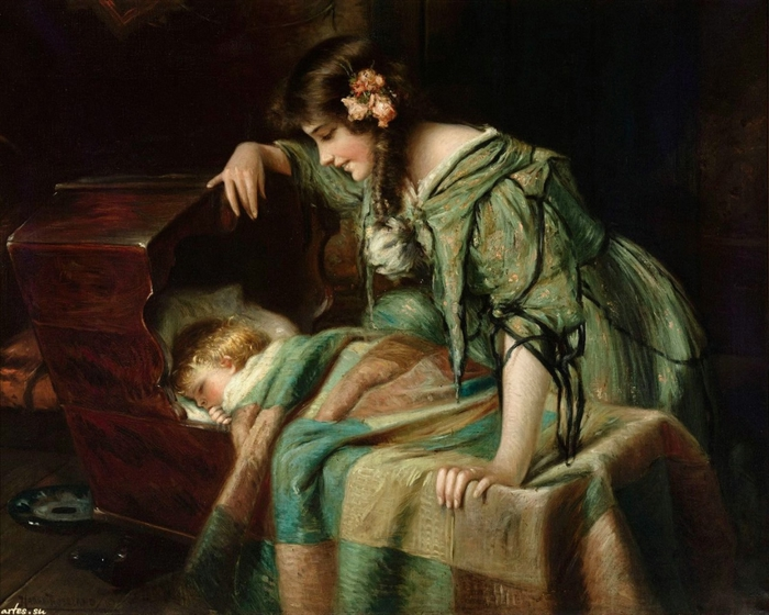 Скачать обои дети, мама с ребенком, Harry Roseland 800x600.