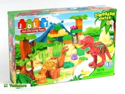 Конструктор 5070 Динозавры 62 детали в коробке (400x300, 41Kb)