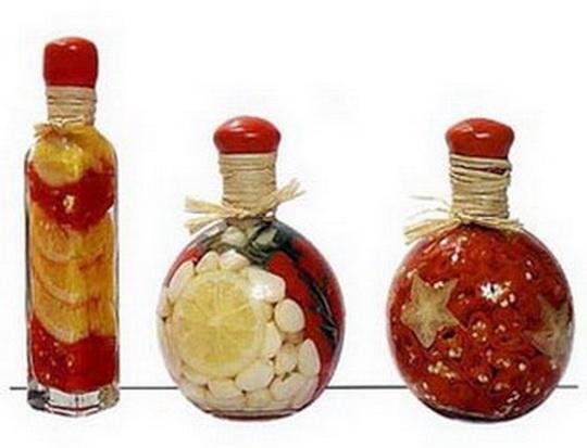 Декоративные бутылки с крупой