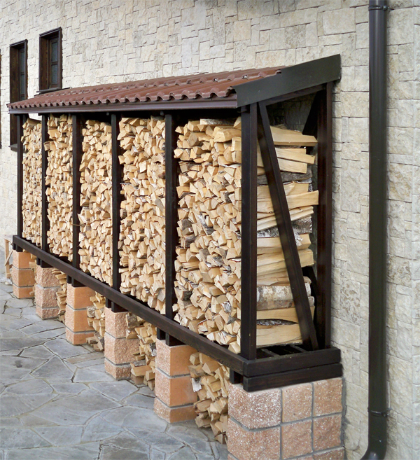 Поленница: как хранить дрова красиво и правильно