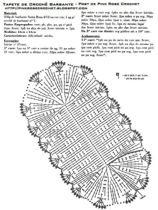 Коврик связанный крючком со схемами