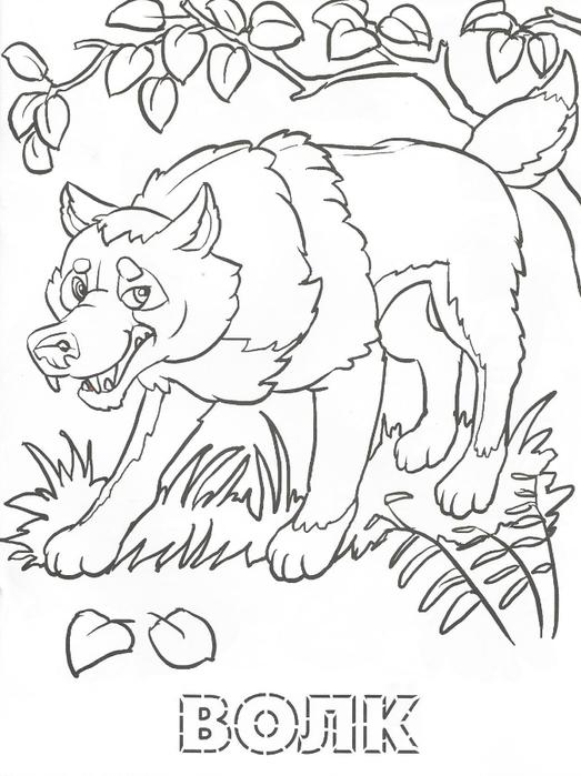 Раскраска звери - 3