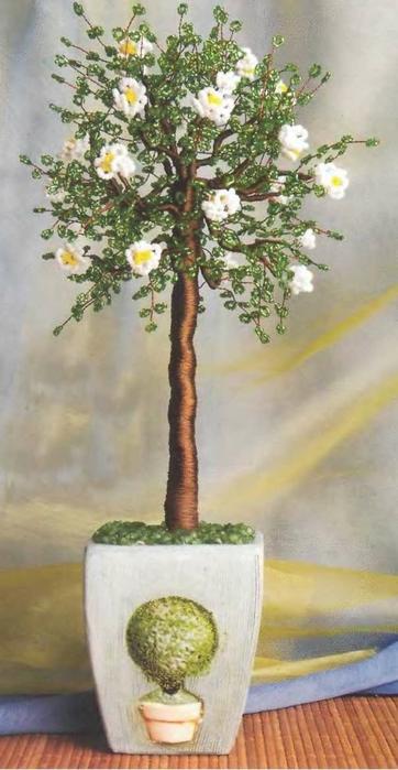 Бисероплетение - Деревья из бисера.  Автор Анастасия.