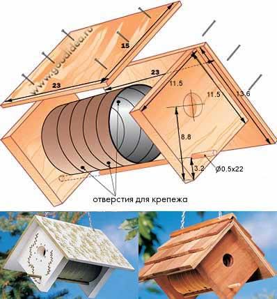 Не за горами весна и наверняка вы на своей даче захотите построить домик для птиц-скворечник Представляю вам...