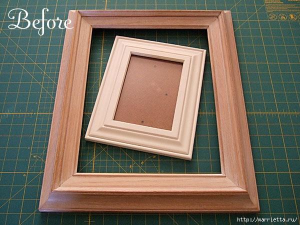 Как сделать рамку на картину из дерева видео