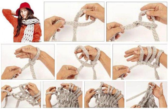 Вяжем шарф снуд своими руками