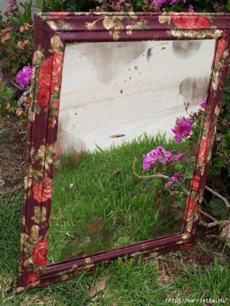 Цветочное зеркало. Шикарная идея по переделке и украшению интерьера (19) (450x600, 178Kb)