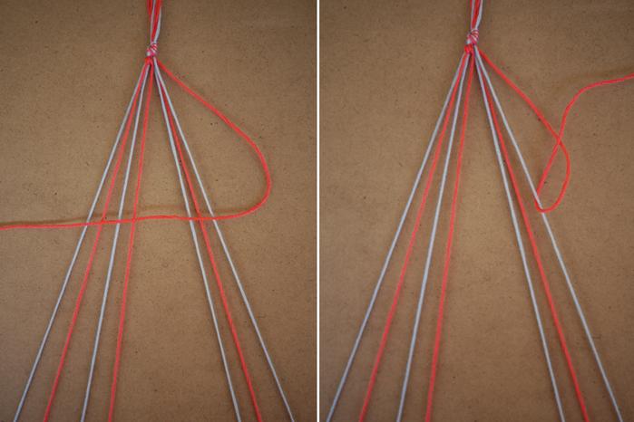 Браслеты своими руками из ниток для вязания