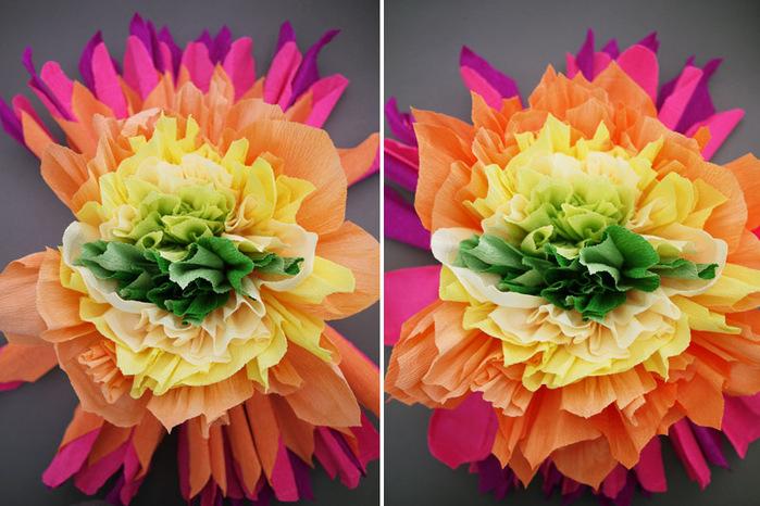 Красивые цветы из бумаги своими руками мастер