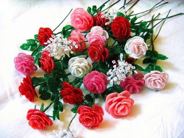 цветы из бисера мастер класс - Сделай сам!