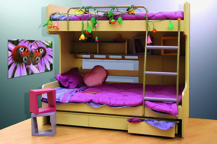 кровать-чердак двухярусная кровать (28) (700x466, 84Kb)